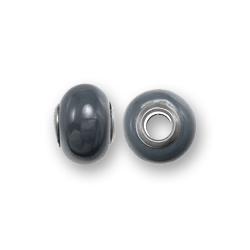 Perle céramique 15x11mm - Anthracite