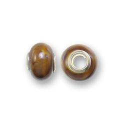Perle céramique 15x11mm - Brun