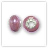Perle céramique 15x11mm - Rose