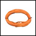 lacet coton ciré  1mm - Orange Clair x5m