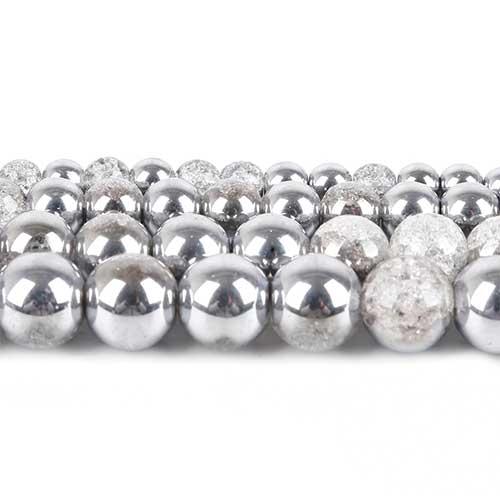Craquelée 06mm Cristal Silver
