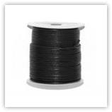 Cordon cuir 1mm Noir (bobine 25m)