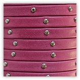 Cuir rivet� 6 mm - Fuschia 17502