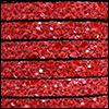 Cuir plat 05 mm - Pailleté Rouge 18672