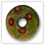 Donut 45mm feuille d'or FXG14