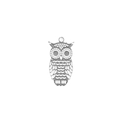 Breloque hibou - 15mm