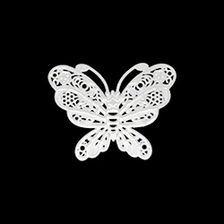 Breloque papillon - 20mm - blanc