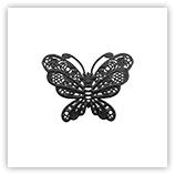 Breloque papillon - 20mm - noir