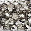 Perles à Facettes 4mm - Métallic Ice Argenté Fumé (nouveau)