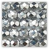 Perles à Facettes 2mm Argent x50