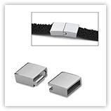 Fermoir magnétique pour cuir 10 mm - Inox