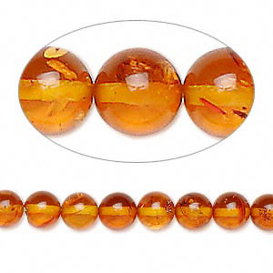 Ambre naturelle - ronde 10 mm