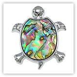Pendentif Tortue 40mm Abalone