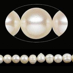 Perles d'eau douce - 10mm