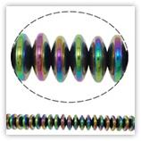 Hématite Arc-en-Ciel - rondelles 06 mm
