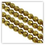 Hématite - facettes 04 mm - Gold