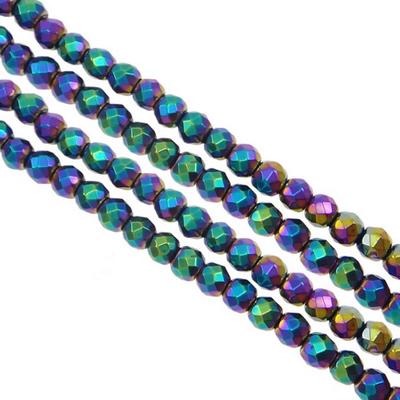 Hématite - facettes 08 mm - Rainbow