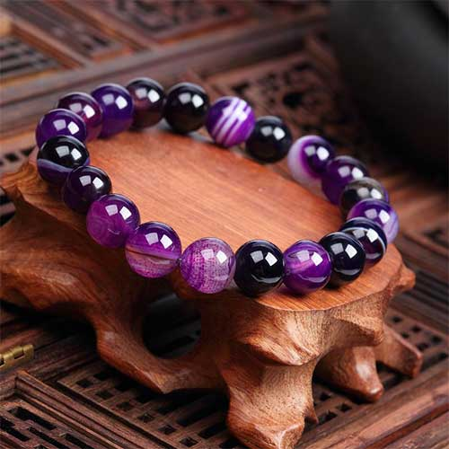 Agate Purple - ronde 10mm