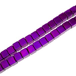 H�matite - cubes 04 mm - Violet
