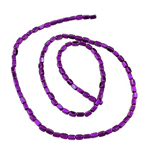 Hématite - Grains de riz 2mm - Violet