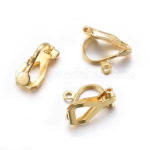 Clips d'oreilles INOX doré x2