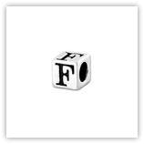 Perle Alphabet 5mm Argent Massif - F