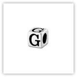 Perle Alphabet 5mm Argent Massif - G