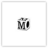 Perle Alphabet 5mm Argent Massif - M