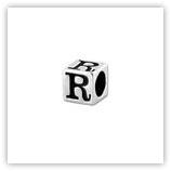Perle Alphabet 5mm Argent Massif - R