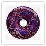 Donut 40mm Magnésite violet