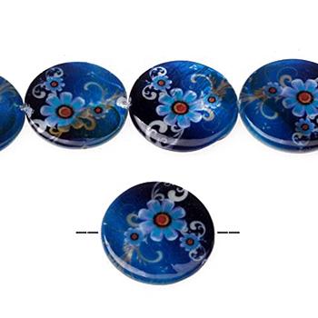 Palets nacre 25 mm Bleu