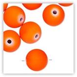 Perles Acryliques 14 mm Néon - Orange