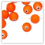 Perles Acryliques 10 mm Néon - Orange
