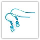 Crochets d'oreilles coloré Turquoise x2
