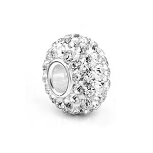 perles pour bracelet 93 strass - Cristal