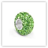 perles pour bracelet 93 strass - Péridot