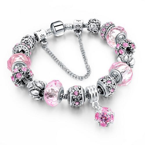 Bracelet rond personnalisé - Rose