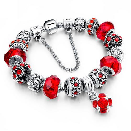 Bracelet rond personnalisé - Rouge