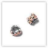 Perle pour bracelet - Quadruple fleur émaillée - LightRose