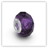 perles pour bracelet à facettes - Amethyste