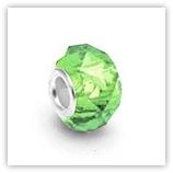 perles pour bracelet à facettes - Péridot
