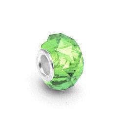 perles pour bracelet � facettes - P�ridot