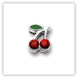 Passant pour 8mm - Cerises fines Rouge P202