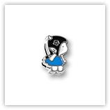 Passant pour 8mm - Fillette profil bleu P100