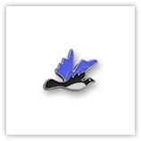Passant pour 8mm - Oiseau bleu P161