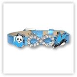 Bracelet pour passant 8mm - bleu métallisé