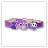 Bracelet pour passant 8mm - purple métallisé