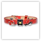 Bracelet pour passant 8mm - rouge métallisé