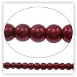 Perles en verre Nacrées 10mm bordeaux