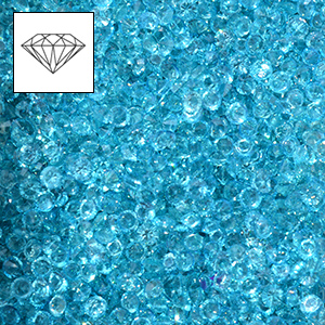 Mini-diamants pour r�sille tubulaire - Aquamarine x100g